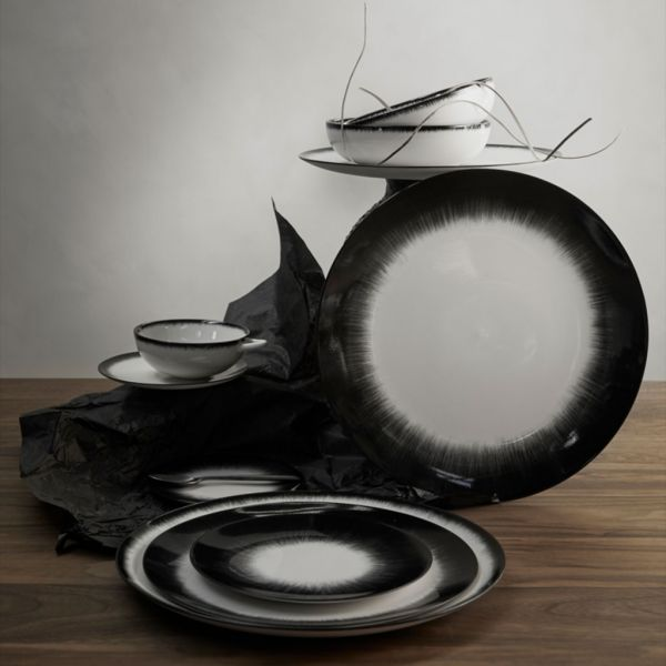 ANN DEMEULEMEESTER - PLATE DÉ OFF-WHITE/BLACK VAR 5