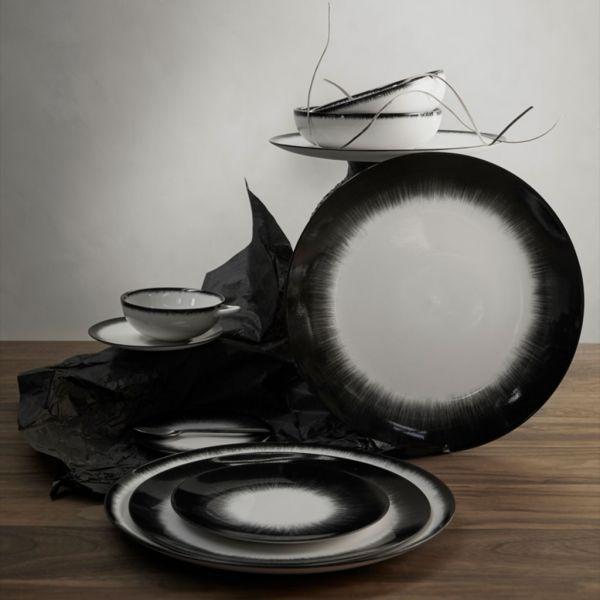 ANN DEMEULEMEESTER - PLATE DÉ - OFF-WHITE/BLACK VAR 3