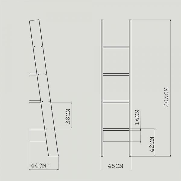 LADDER BOOKCASE by AUTOBAN for De La Espada Spec drawing