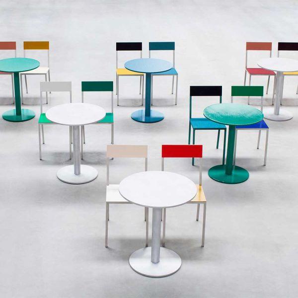 ALU ROUND TABLE S by MULLER VAN SEVEREN