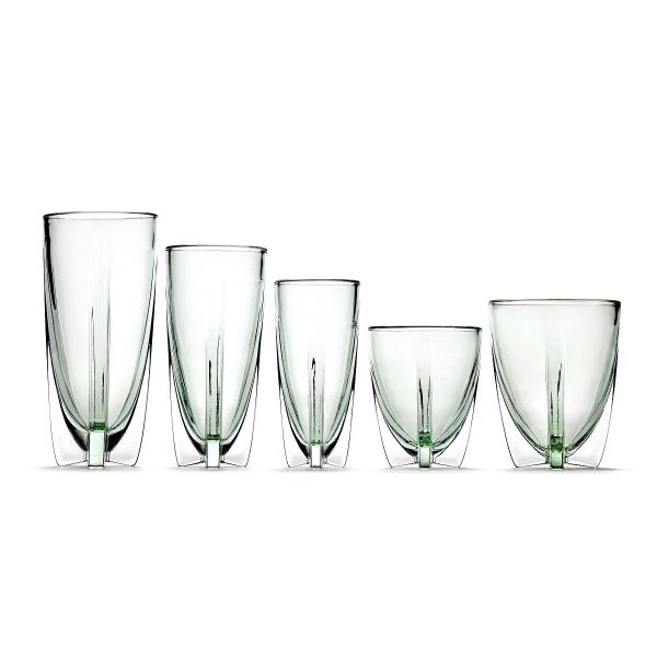 DORA LOW GLASS PALE GREEN BOX OF 4 By Ann Demeulemeester