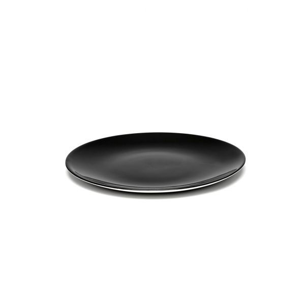 DÉ PLATE 17.5 BLACK BOX OF 2 By Ann Demeulemeester