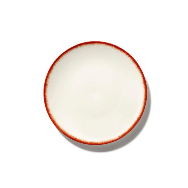 ANN DEMEULEMEESTER - PLATE DÉ - OFF-WHITE/BLACK VAR 6