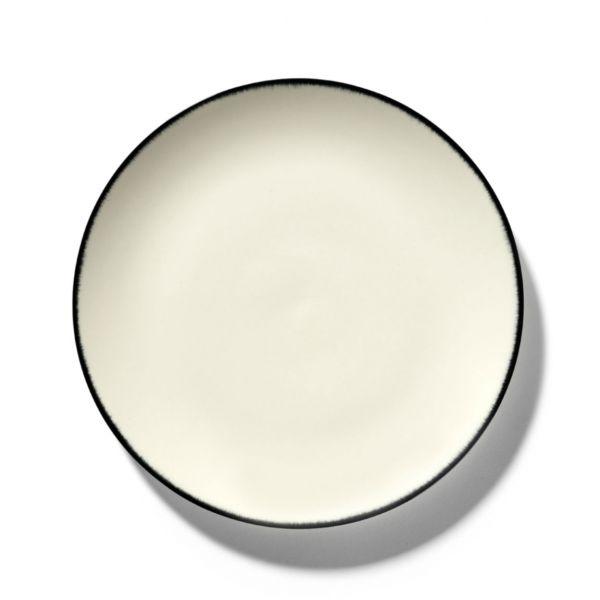ANN DEMEULEMEESTER - PLATE DÉ - OFF-WHITE/BLACK VAR 1