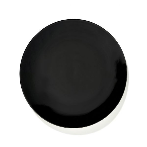 DÉ PLATE 24 BLACK BOX OF 2 By Ann Demeulemeester