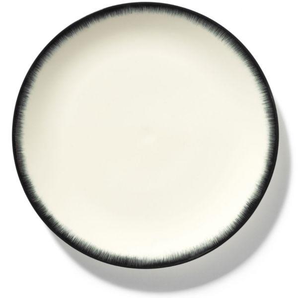 ANN DEMEULEMEESTER - PLATE DÉ OFF-WHITE/BLACK VAR 3