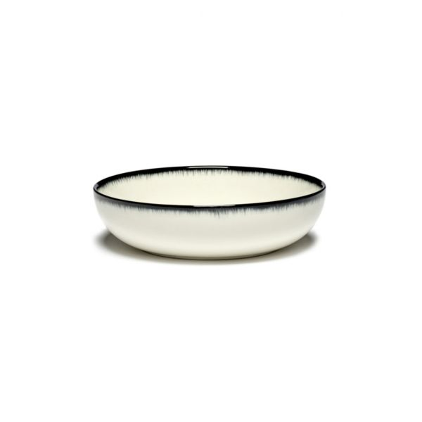 ANN DEMEULEMEESTER - PLATE DÉ OFF-WHITE/BLACK