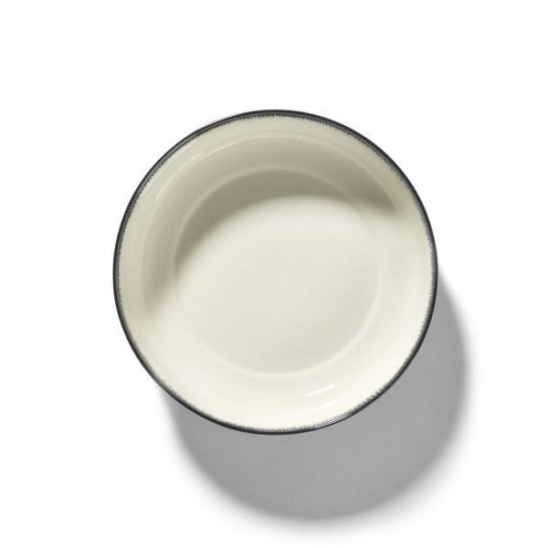 ANN DEMEULEMEESTER - HIGH PLATE DÉ OFF-WHITE/BLACK VAR A 185