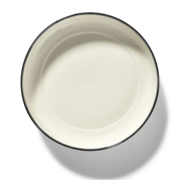 ANN DEMEULEMEESTER - HIGH PLATE DÉ OFF-WHITE/BLACK VAR A