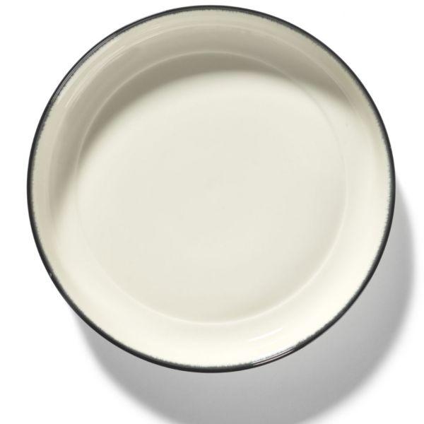ANN DEMEULEMEESTER - HIGH PLATE DÉ OFF-WHITE/BLACK VAR D