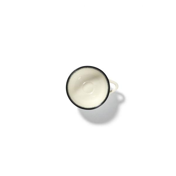 ANN DEMEULEMEESTER - ESPRESSO CUP DÉ OFF-WHITE/BLACK VAR A