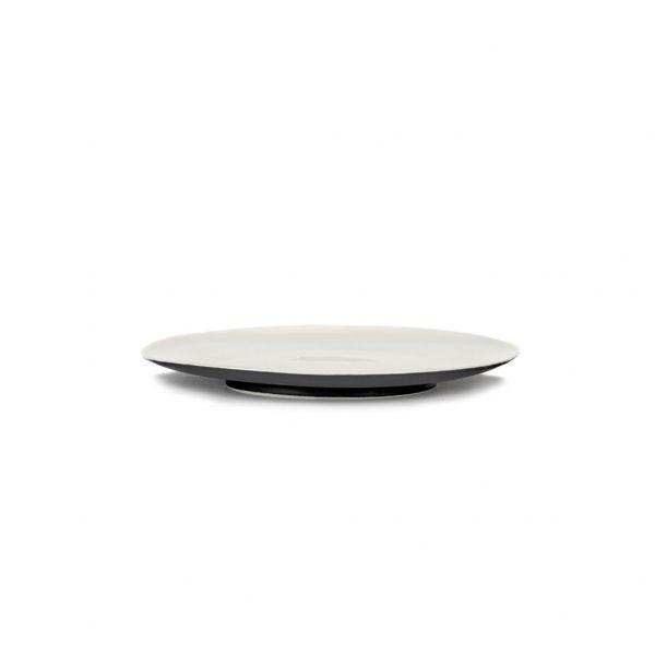 ANN DEMEULEMEESTER - PLATE RA BLACK/OFF-WHITE