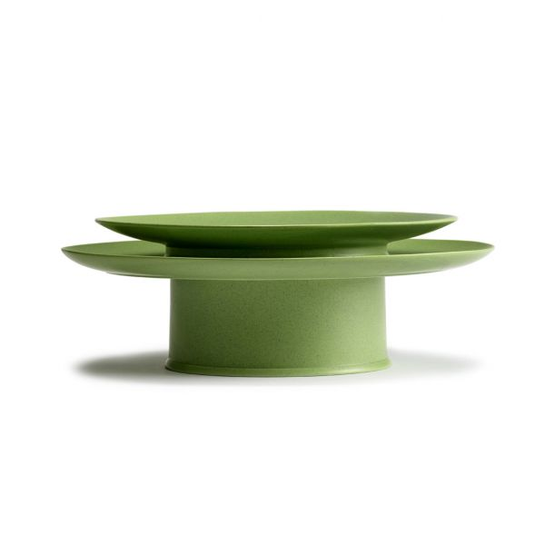 RA PLATE 28 GREEN BOX OF 2 by ANN DEMEULEMEESTER