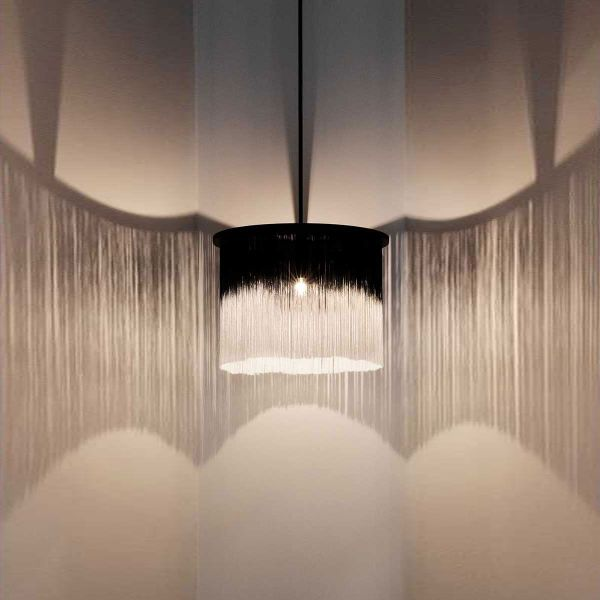 PENDANT LAMP WONG BLACK and WHITE with EXTENSION by ANN DEMEULEMEESTER - SERAX