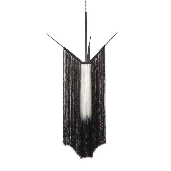 PENDANT LAMP CHAN 1 BLACK/WHITE by ANN DEMEULEMEESTER - SERAX