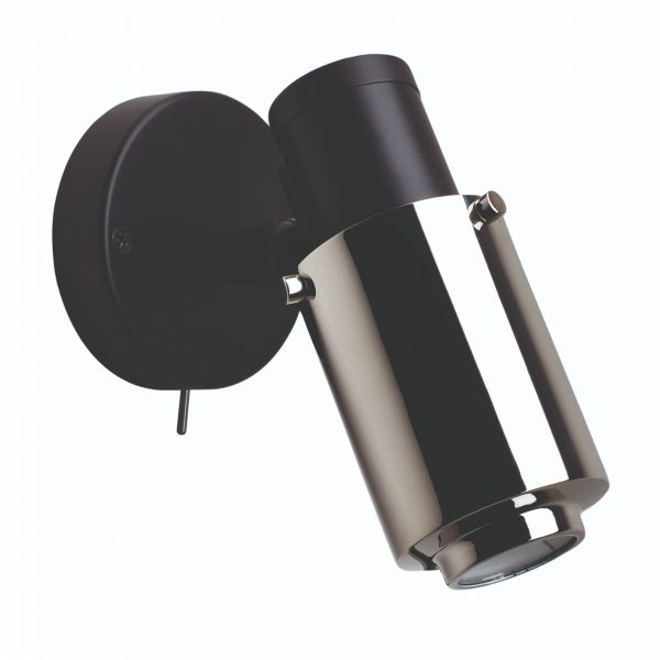 BINY SPOT WALL LIGHT BLACK NICKEL NO STICK SWITCH by DCW Editions Paris