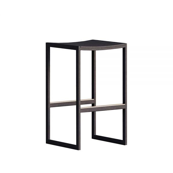 EOS OUTDOOR BACKLESS BAR STOOL by CASE FURNITURE