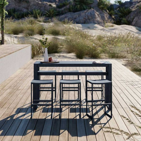 EOS OUTDOOR RECTANGULAR BAR TABLE by CASE FURNITURE