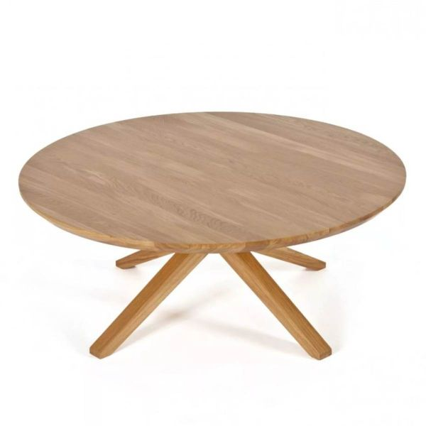 CROSS ROUND COFFEE TABLE BY CASE FURNITURE