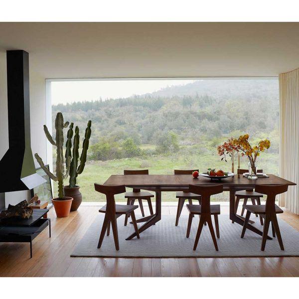 LIGHT EXTENSION DINING TABLE by MATTHEW HILTON for De La Espada