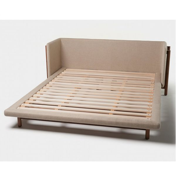 FRAME BED WITH ARMS by NERI & HU for De La Espada
