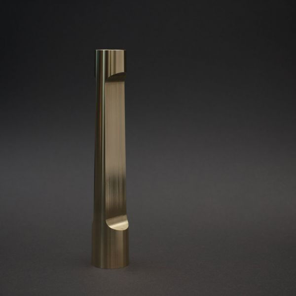 INDUSTRY LARGE BRASS CANDLE HOLDER by MATTHEW HILTON