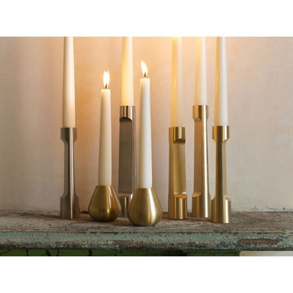 INDUSTRY LARGE Stainless steel CANDLE HOLDER by MATTHEW HILTON