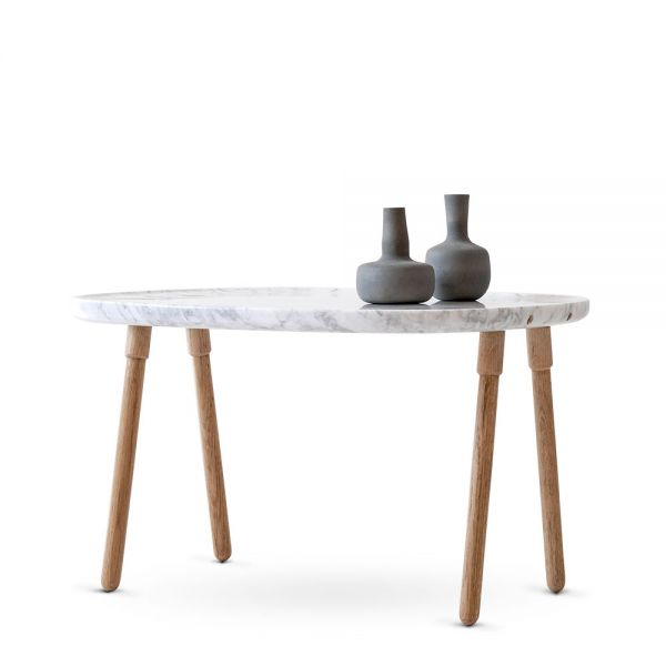 CLOUD COFFEE TABLE LARGE MARBLE/OAK by MR FRAG