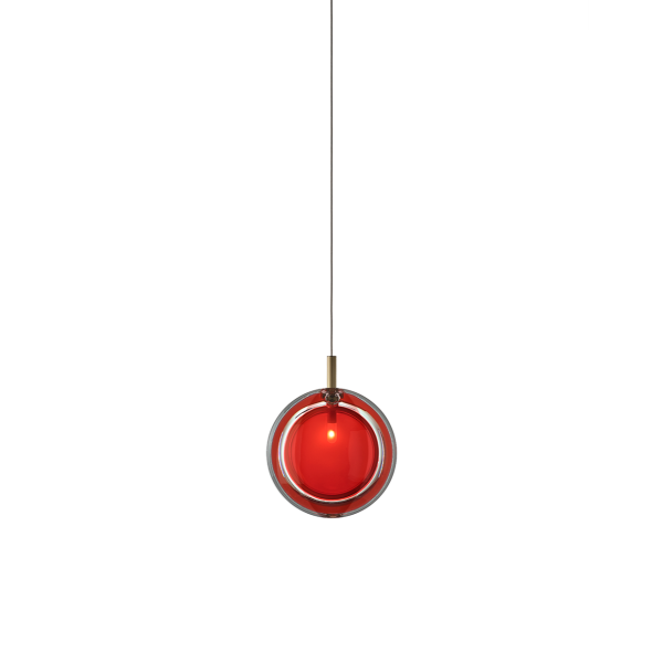 LENS RED PENDANT LIGHT by BOMMA