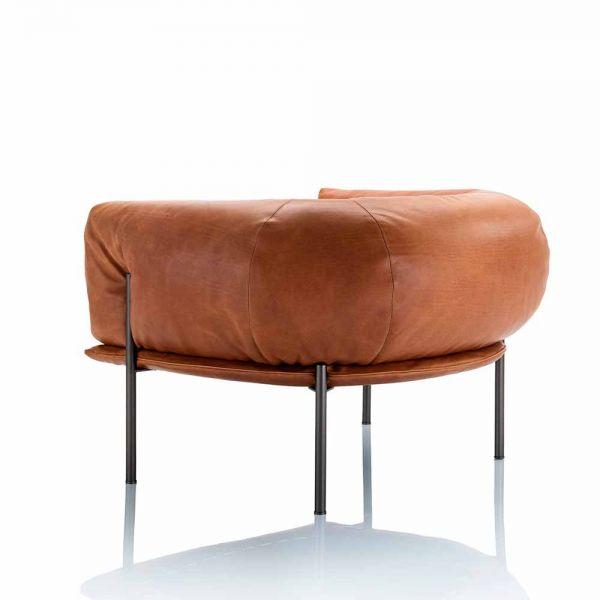 RONDO LEATHER ARMCHAIR by MOLINARI LIVING