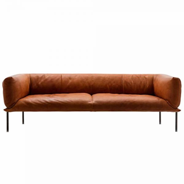 RONDO 3 MAX LEATHER SOFA by MOLINARI LIVING