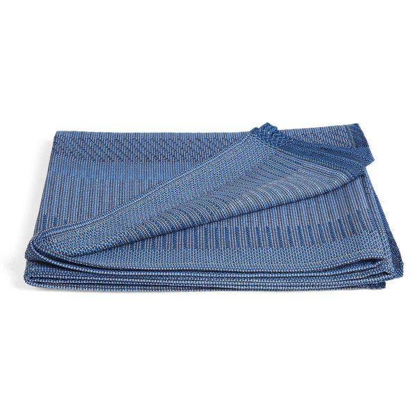 UNA AZZURO cotton THROW by WALLACE and SEWELL