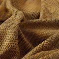 UNA Senape cotton THROW by WALLACE and SEWELL