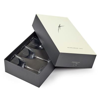 GRACE RED WINE TRANSPARENT BOX OF 4 - ANN DEMEULEMEESTER