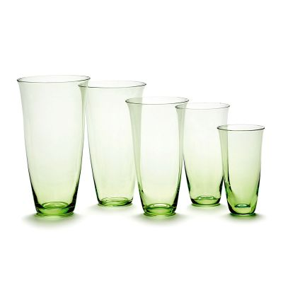 FRANCES GLASS 5.5 / 9.9 GREEN BOX OF 4 - ANN DEMEULEMEESTER