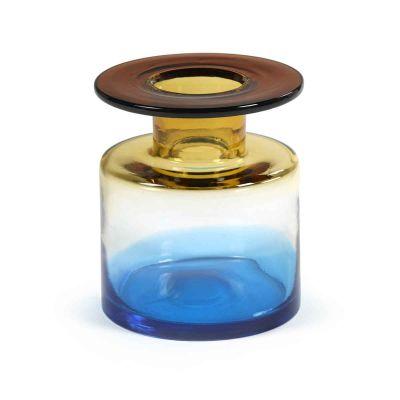 VASE WIND & FIRE 22H BLUE AMBER - MARIE MICHIELSSEN