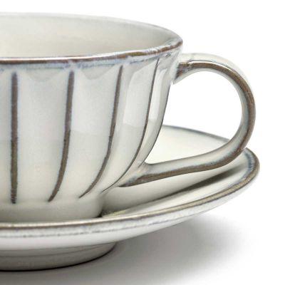 INKU TEA CUP & SAUCER WHITE - SERAX