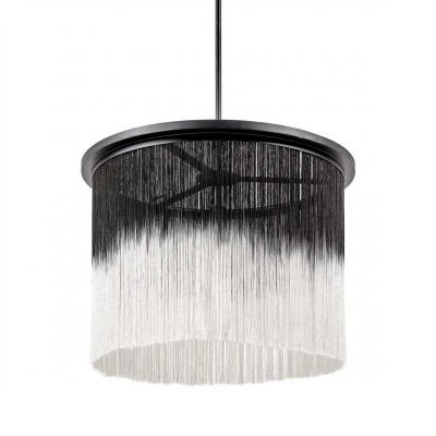 PENDANT LAMP WONG BLACK/WHITE + EXTENSION - ANN DEMEULEMEESTER