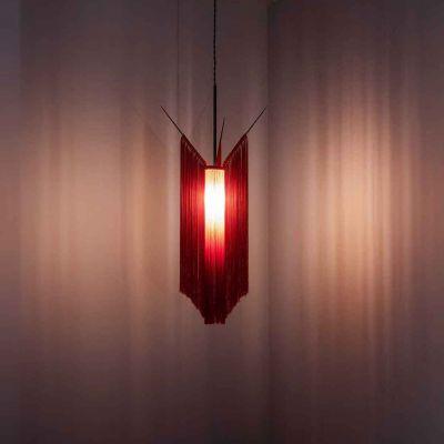 PENDANT LAMP CHAN 1 SCARLET/CREAM - ANN DEMEULEMEESTER