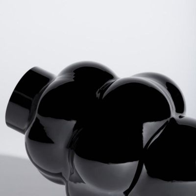 BALLOON GLASS VASE 04 BLACK - LOUISE ROE