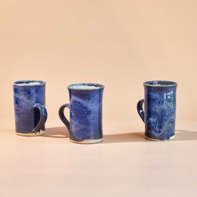 CERAMIC MUG BLUE - HAND MADE