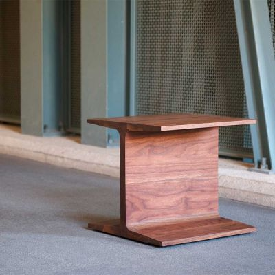 EX DISPLAY I-BEAM SIDE TABLE - MATTHEW HILTON