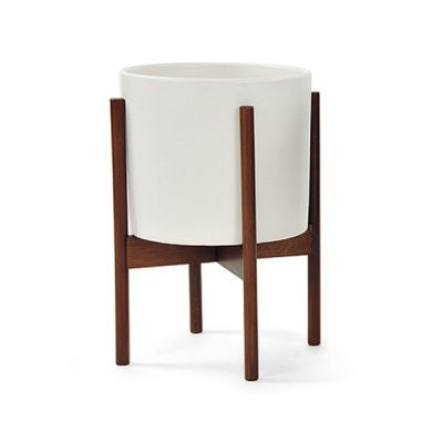 CS PLANTER 10 WHITE / LARGE / WOOD STAND - MODERNICA