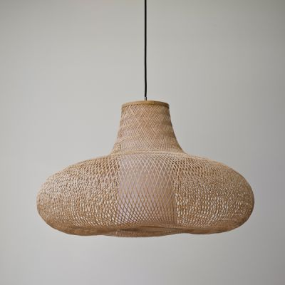 MAY LARGE NATURAL BAMBOO PENDANT - AY ILLUMINATE