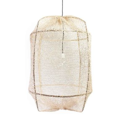 Z1 BLACK / TEA DYED SISAL NET PENDANT
