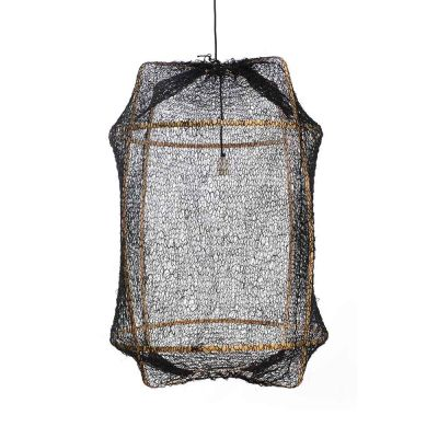 Z2 BLOND / BLACK SISAL NET COVER PENDANT