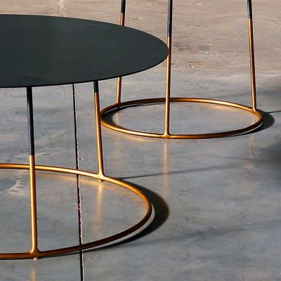 NIMBUS 40 GOLD SIDE TABLE