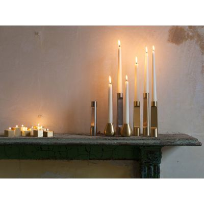 INDUSTRY LARGE BRASS CANDLE HOLDER - MATTHEW HILTON