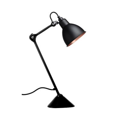 205 TABLE LAMP ROUND BLACK/COPPER SHADE