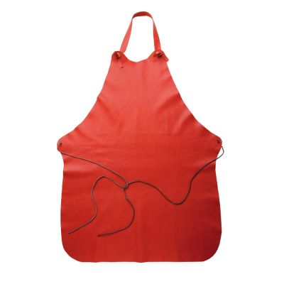 MWT LEATHER APRON RED